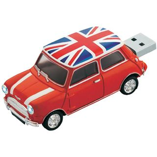 4 GB Platinum Mini Cooper rot USB 2.0