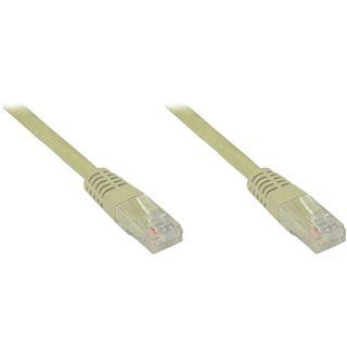 (€3,90*/1m) 1.00m Good Connections Cat. 6 Patchkabel U/UTP RJ45 Stecker auf RJ45 Stecker Grau halogenfrei