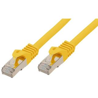 (€7,80*/1m) 0.50m Good Connections Cat. 7 Rohkabel S/FTP PiMF RJ45 Stecker auf RJ45 Stecker Gelb halogenfrei