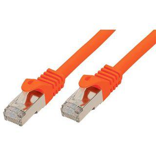 (€2,45*/1m) 2.00m Good Connections Cat. 7 Rohkabel Patchkabel S/FTP PiMF RJ45 Stecker auf RJ45 Stecker Orange halogenfrei