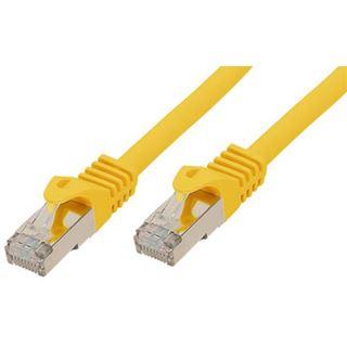 (€2,30*/1m) 3.00m Good Connections Cat. 7 Rohkabel Patchkabel S/FTP PiMF RJ45 Stecker auf RJ45 Stecker Gelb halogenfrei