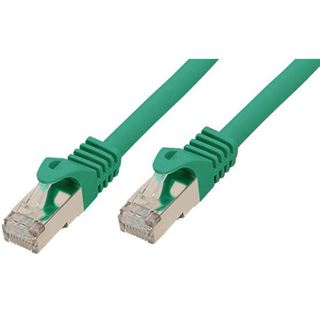 10.00m Good Connections Cat. 7 Rohkabel S/FTP PiMF RJ45 Stecker auf RJ45 Stecker Grün halogenfrei