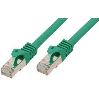 (€0,86*/1m) 15.00m Good Connections Cat. 7 Rohkabel Patchkabel S/FTP PiMF 600MHz RJ45 Stecker auf RJ45 Stecker Grün halogenfrei/vergoldet