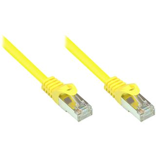 (€0,26*/1m) 50.00m Good Connections Cat. 5e Patchkabel SF/UTP RJ45 Stecker auf RJ45 Stecker Gelb PVC