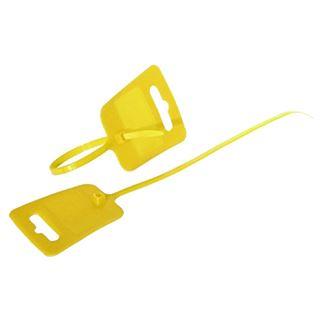 Kabelbinder VE 100 Stück Euroloch und Beschriftungsfeld RAL 1026 gelb