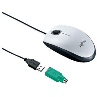 Fujitsu Combo Laser Mouse PS/2 & USB schwarz (kabelgebunden)