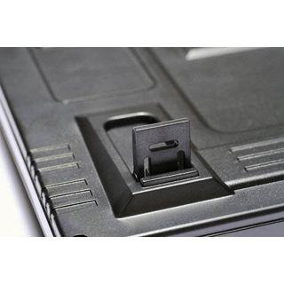 QPad MK-50 Pro MX-Red CHERRY MX Red PS/2 & USB Deutsch schwarz (kabelgebunden)