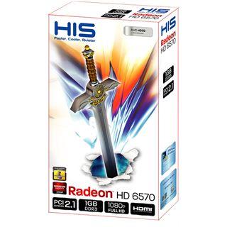1GB HIS Radeon HD 6570 Fan Aktiv PCIe 2.1 x16 (Retail)