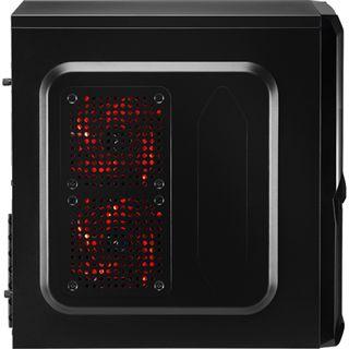 AeroCool V3X Advance Black Edition Midi Tower ohne Netzteil schwarz