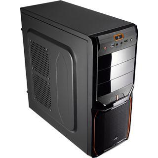 AeroCool V3X Advance Evil Black Edition Midi Tower ohne Netzteil schwarz/orange