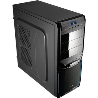 AeroCool V3X Advance Evil Blue Edition Midi Tower ohne Netzteil schwarz/blau