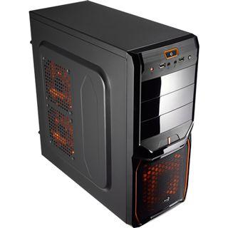 AeroCool V3X Black Edition Midi Tower ohne Netzteil schwarz/orange