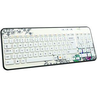 Logitech Wireless Keyboard Deutsch Floral (kabellos)