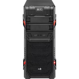 AeroCool GT Black Edition Midi Tower ohne Netzteil schwarz