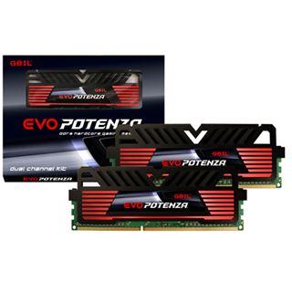 16GB GeIL EVO Potenza Onyx schwarz DDR3-1600 DIMM CL9 Dual Kit