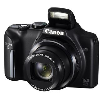 Canon PowerShot SX170 IS - Digitalkamera schwarz