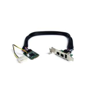 Startech MPEX1394B3 3 Port PCIe Mini Card interner Stromanschluss retail
