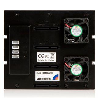 "Startech Wechselrahmen für 4x 3.5"" Festplatten (HSB430SATBK)"