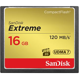 16 GB SanDisk Extreme Compact Flash TypI 800x Retail