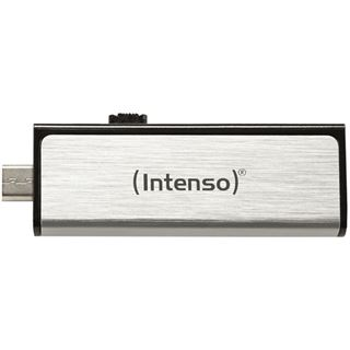 8 GB Intenso Mobile Line silber USB 2.0 und microUSB