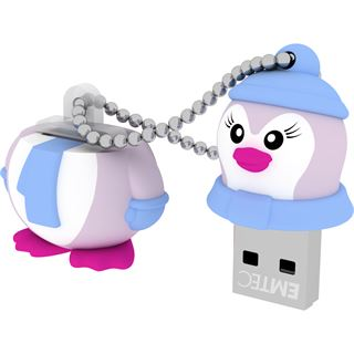 8 GB EMTEC M336 Animalitos Lady Penguin Figur USB 2.0