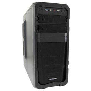 LC-Power Pro-928B Mechadroid Midi Tower ohne Netzteil schwarz