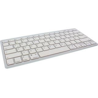 InLine Tastatur Bluetooth Deutsch weiß/silber (kabellos)