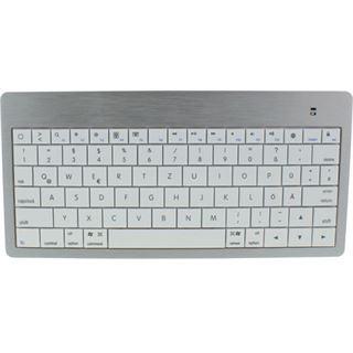 InLine Bluetooth Mini-Tastatur Bluetooth Deutsch weiß/silber (kabellos)