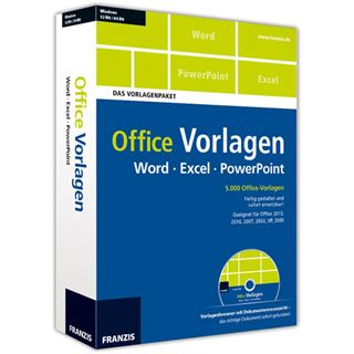 Franzis Office Vorlagen Deutsch Office Vollversion PC (DVD)