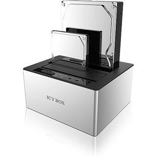 "Icy Box IB-121CL-U3 Docking- und Klonstation, 2x SATA 2,5"" und/oder SATA 3,5"" zu 1x USB 3.0 Host, JBOD, Aluminium"