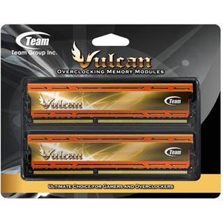 16GB TeamGroup Vulcan Series orange X.M.P. DDR3-2400 DIMM CL11 Dual Kit