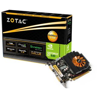 1GB ZOTAC GeForce GT 630 Synergy Edition Aktiv PCIe 2.0 x16 (Retail)