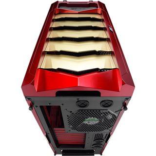 AeroCool XPredator X3 RG Edition Midi Tower ohne Netzteil rot/gold