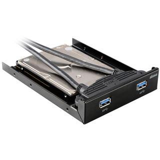 """Akasa 2x USB 3.0 3,5 Zoll Einbaurahmen für 2,5"""" Festplatten (AK-HDA-09BK)"""