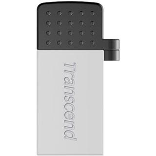 8 GB Transcend JetFlash 380 silber USB 2.0 und microUSB