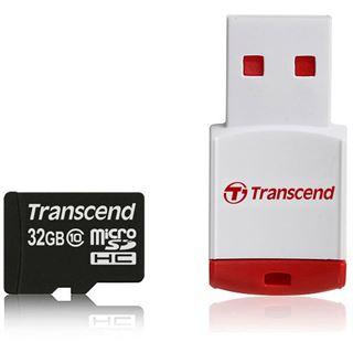 32 GB Transcend microSDHC Class 10 Retail inkl. USB-Adapter