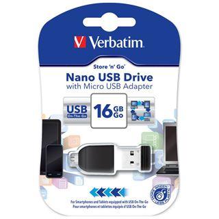 16 GB Verbatim Store `n` Stay NANO schwarz USB 2.0