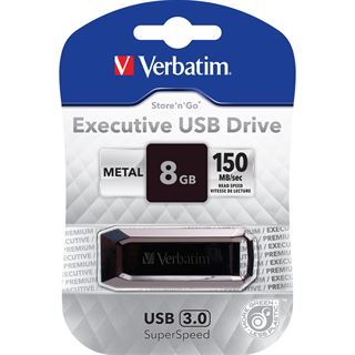 8 GB Verbatim Executive Metall USB 2.0