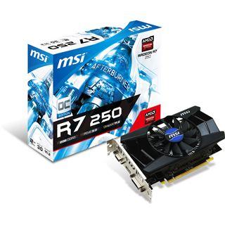 2GB MSI Radeon R7 250 OC Aktiv PCIe 3.0 x16 (Retail)