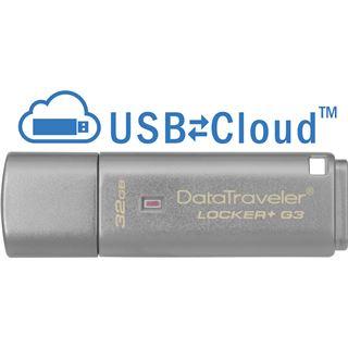 32 GB Kingston DataTraveler Locker+ G3 grau USB 3.0