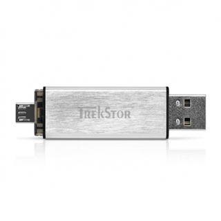 8 GB TrekStor DUO silber USB 2.0 und microUSB