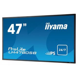 "47"" (119,38cm) iiyama ProLite LH4780SB-B1 schwarz 1920x1080 BNC/2xHDMI 1.3/1xVGA/1xDVI/1xDP/S-Video"