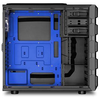 Sharkoon BD28 mit Sichtfenster Midi Tower ohne Netzteil schwarz/blau