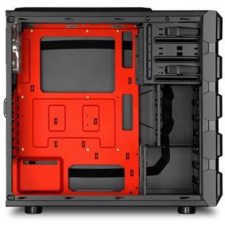 Sharkoon BD28 mit Sichtfenster Midi Tower ohne Netzteil schwarz/rot