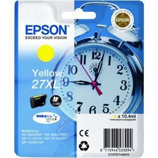 Epson 27XL Tintenpatrone gelb hohe Kapazität 10,4ml 1.100 Seiten 1-pack blister ohne Alarm - DURABrite ultra Tinte