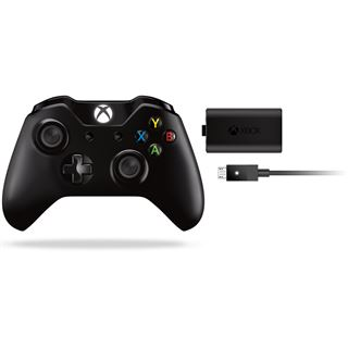 Microsoft Wireless Controller inkl. Play & Charge Kit schwarz XBOX One