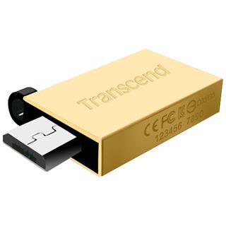 16 GB Transcend JetFlash 380 gold USB 2.0 und microUSB