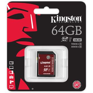 64 GB Kingston UHS-I U3 SDHC Class 10 Retail