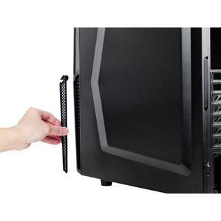 Silverstone Precision PS10 gedämmt Midi Tower ohne Netzteil schwarz