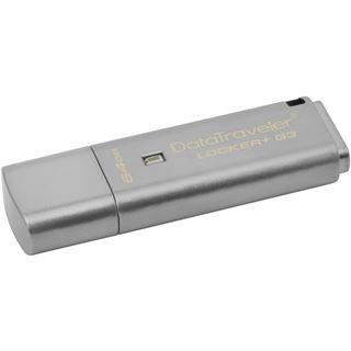 64 GB Kingston DataTraveler Locker+ G3 silber USB 3.0